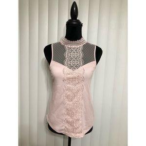 Express Tops - Express Blush Pink lace top